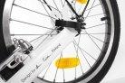 Koloběžka do města Kickbike City G4 bílá detail zadního kola