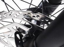Krosová koloběžka KICKBIKE CROSS FIX detail přední brzdy SHIMANO BR-M375