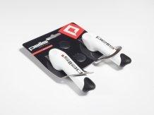 Bílé rohy na řídítka 3D ERGO od firmy PELL'S